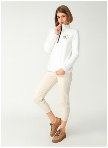 National Geographic Sweatshirt Beyaz